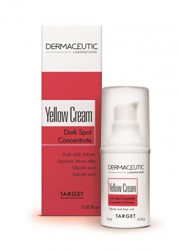 Cilt lekeleri için gece vardiyası Dermaceutic Yellow Cream